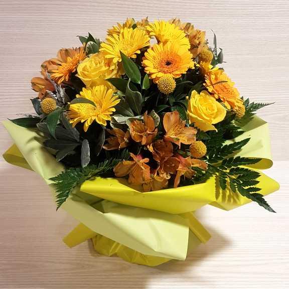 Fiori Gialli Per Bouquet.Bouquet Fiori Gialli Per Nascita Vendita Fiori Online